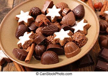 assorted chocolates for christmas