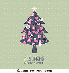 Assorted Christmas Tree - Christmas tree with assorted...