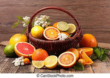 assorted citrus fruit