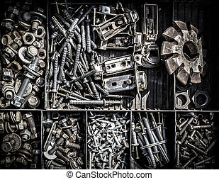 Assorted Collection of Nuts and Bolts