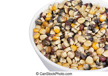 assorted corn beans in a bowl