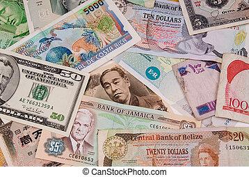 Assorted currencies - assorted international paper money...