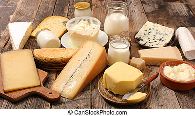 assorted dairy product