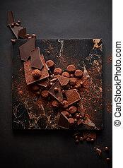 Assorted dark chocolate truffles - dark chocolate truffles ...