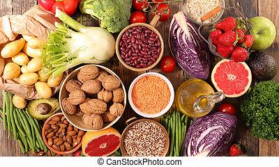 assorted diet food