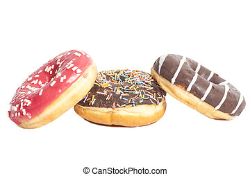 Assorted Donuts isolated on a white background