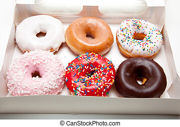 Assorted Donuts on white