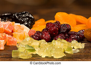 Assorted dried food