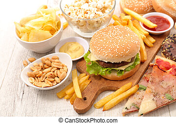 assorted fast food,junk food