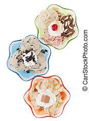 assorted flavors of frozen yogurt
