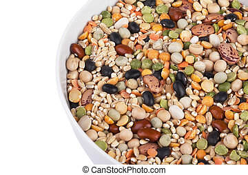 assorted food beans on a bowl