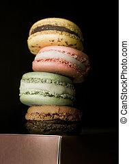 Assorted French Macarons W/ Chiaroscuro Lighting