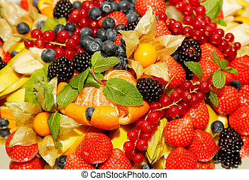 Assorted fresh fruit and berries