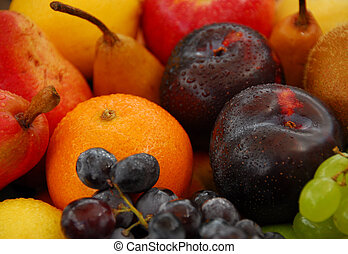 Assorted fresh fruit sele