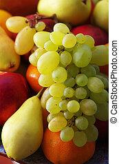 assorted fresh fruits closeup