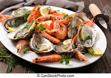 assorted fresh seafood platter