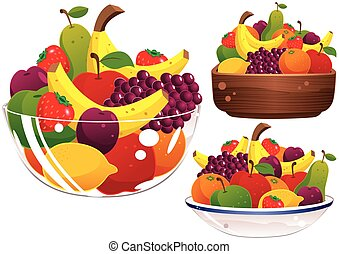 Assorted fruit bowls.eps