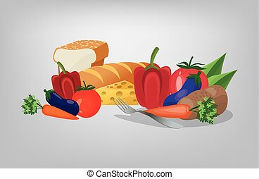 assorted healthy food icons image