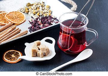 assorted herbal tea