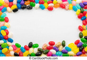 Assorted Jelly Beans border