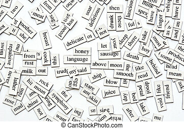 Assorted Magnetic Words - Random collection of different...