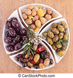 assorted of olives