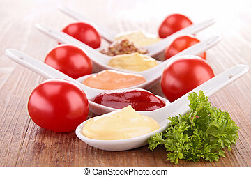 assorted of sauce