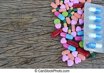 Assorted pills  pills for health care