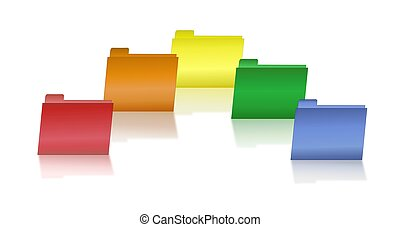 Assorted Primary Colored Folders