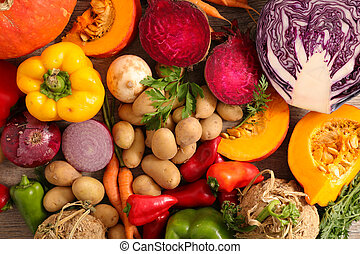 assorted raw vegetable