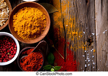 assorted, spices