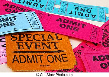 "assorted, stubs, \""admin, one\"", крупным планом, билет"