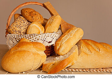 assorted traditional bread