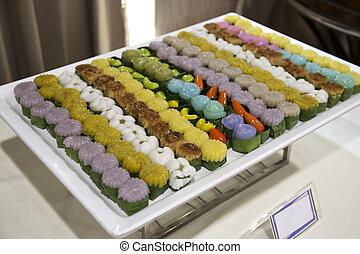 Assorted variety Thai dessert