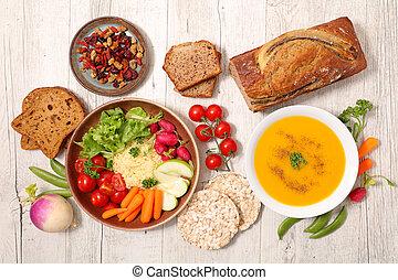 assorted vegan food