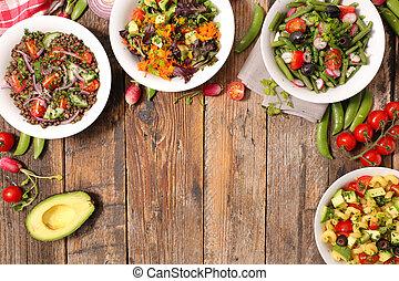 assorted vegetable salad bowl