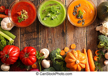 assorted vegetable soup