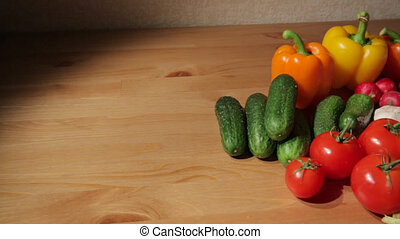 Assorted vegetables on a table