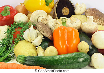 Assorted vegetables.