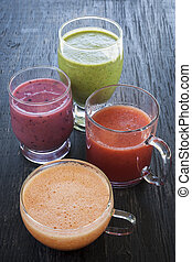 assorti, smoothies