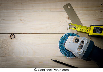 assortiment, hout, gereedschap