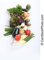 assortiment, légumes