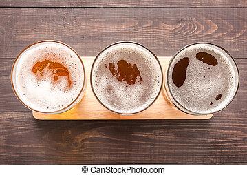 assortiment, lunettes bière