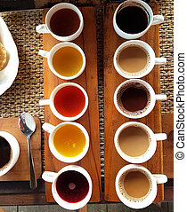 Assortiment of coffee and tea