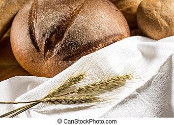 assortiment, pain cuit four