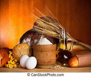 assortiment, pain, ingrédients