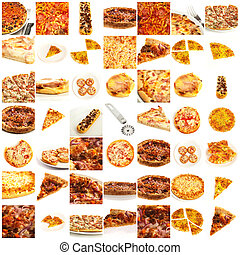 assortiment, pizza