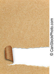 assortiment, van, afgescheurde, hergebruiken, papier, met,...