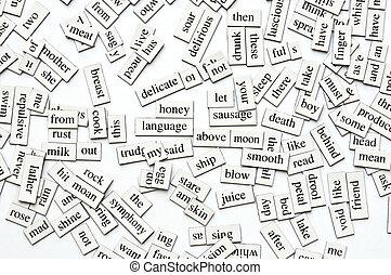 assortito, magnetico, parole