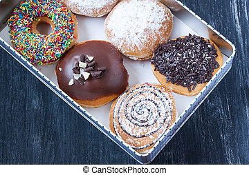 assortment donuts in a box